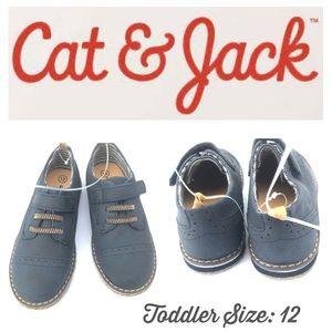 🍃🖤 New Cat & Jack Blue Oxford Grip Sole Shoes